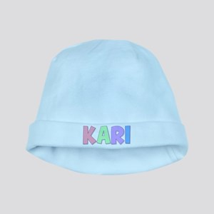 Kari Rainbow Pastel baby hat
