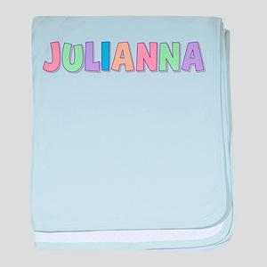 Julianna Rainbow Pastel baby blanket
