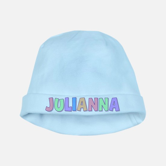 Julianna Rainbow Pastel baby hat