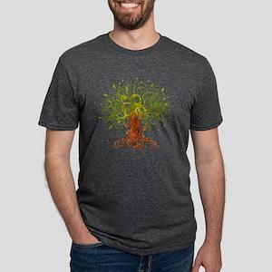 abstract tree Mens Tri-blend T-Shirt