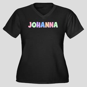 Johanna Rainbow Pastel Women's Plus Size V-Neck Da