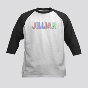 Jillian Rainbow Pastel Kids Baseball Jersey