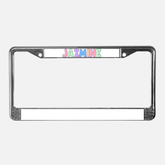 Jazmine Rainbow Pastel License Plate Frame