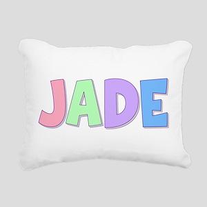 Jade Rainbow Pastel Rectangular Canvas Pillow