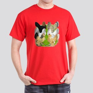Six DUccle Hens Dark T-Shirt