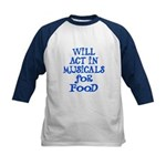 Will Act for Food Kids Baseball Jersey