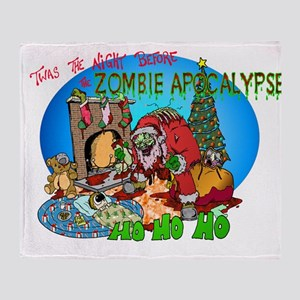 Twas the Night Before Zombie Throw Blanket