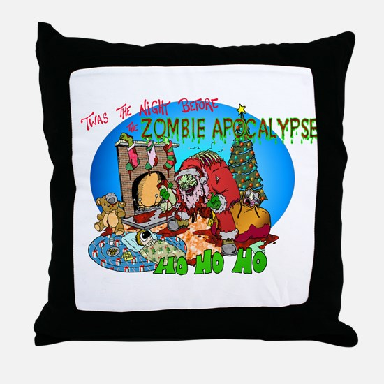 Twas the Night Before Zombie Throw Pillow