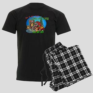 Twas the Night Before Zombie Men's Dark Pajamas