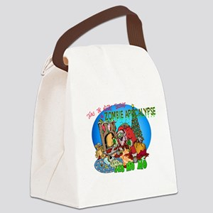 Twas the Night Before Zombie Canvas Lunch Bag