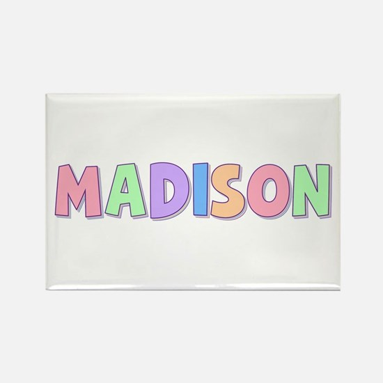 Madison Rainbow Pastel Rectangle Magnet