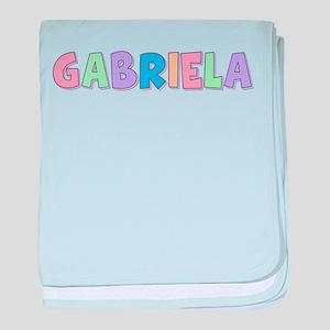 Gabriela Rainbow Pastel baby blanket