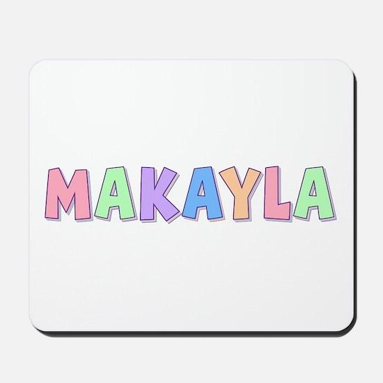 Makayla Rainbow Pastel Mousepad