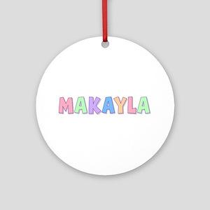 Makayla Rainbow Pastel Round Ornament