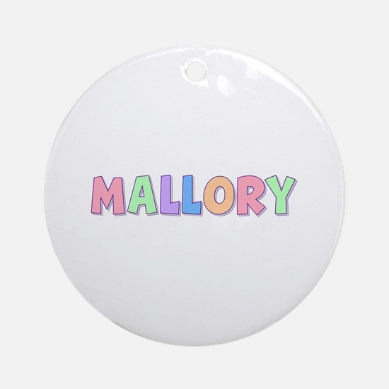 Mallory Rainbow Pastel Round Ornament