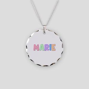 Marie Rainbow Pastel Necklace Circle Charm