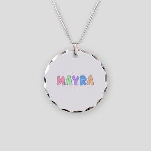 Mayra Rainbow Pastel Necklace Circle Charm