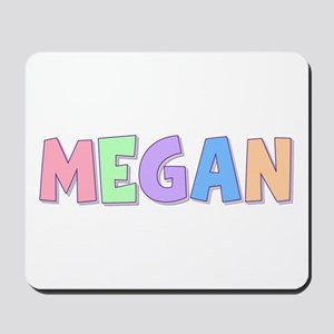 Megan Rainbow Pastel Mousepad