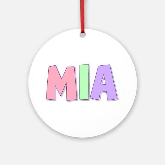 Mia Rainbow Pastel Round Ornament