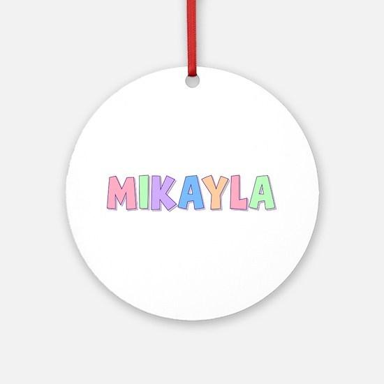 Mikayla Rainbow Pastel Round Ornament