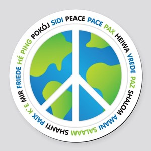 World Peace Sign Round Car Magnet