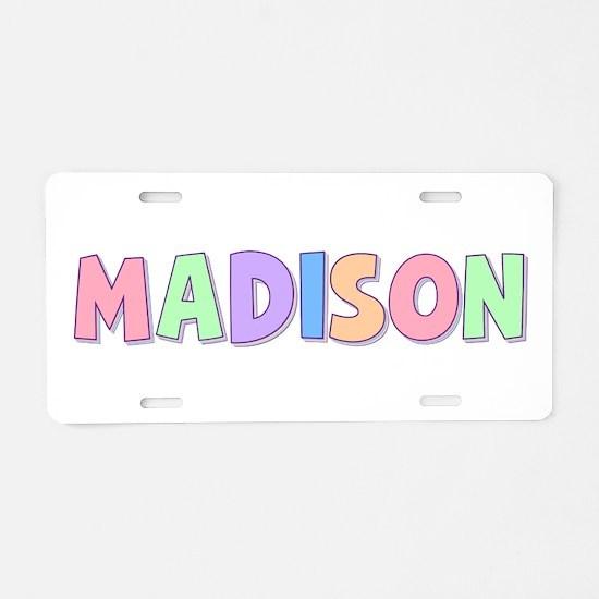 Madison Rainbow Pastel Aluminum License Plate