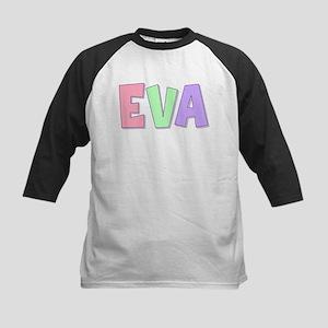 Eva Rainbow Pastel Kids Baseball Jersey