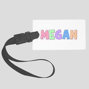 Megan Rainbow Pastel Large Luggage Tag