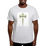 Tan Cross Jesus Ash Grey T-Shirt