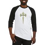 Tan Cross Jesus Baseball Jersey
