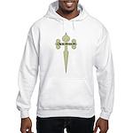 Tan Cross Jesus Hooded Sweatshirt