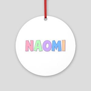 Naomi Rainbow Pastel Round Ornament
