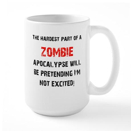 Zombies? Excited! Large Mug
