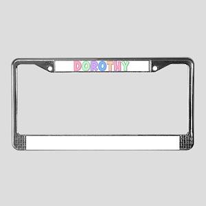 Dorothy Rainbow Pastel License Plate Frame