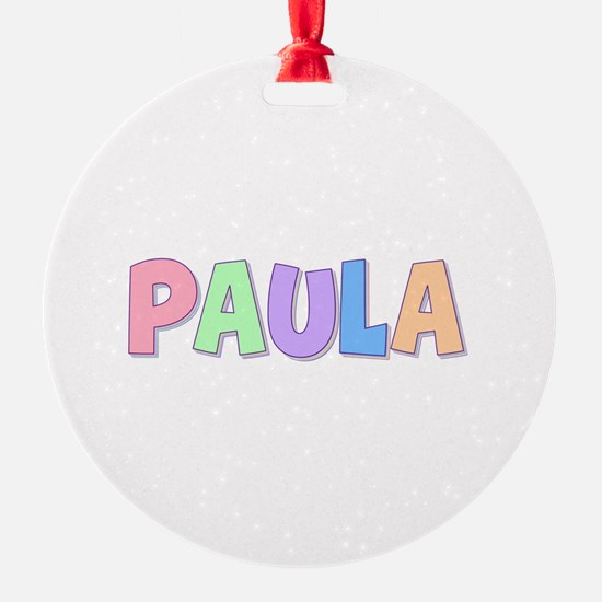 Paula Rainbow Pastel Ornament