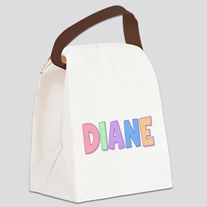 Diane Rainbow Pastel Canvas Lunch Bag