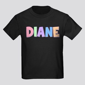 Diane Rainbow Pastel Kids Dark T-Shirt