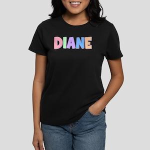 Diane Rainbow Pastel Women's Dark T-Shirt