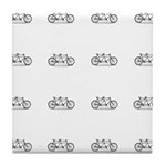 Tandem Vintage Bike Pattern Tile Coaster