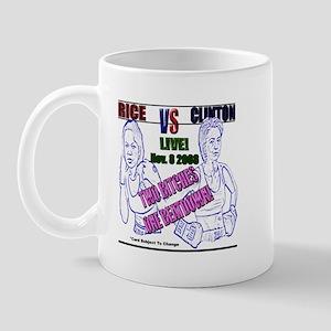 Rice VS. Clinton 2008 Mug