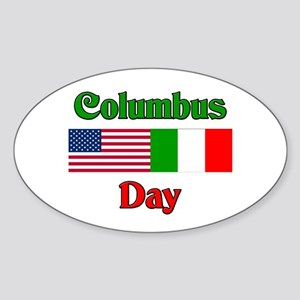 Columbus Day Oval Sticker