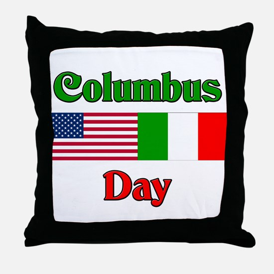 Columbus Day Throw Pillow