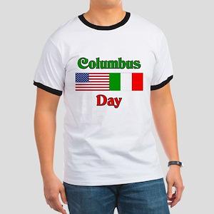 Columbus Day Ringer T