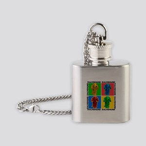 Dachshund Pop Art Flask Necklace