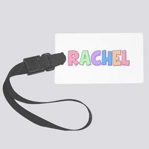 Rachel Rainbow Pastel Large Luggage Tag