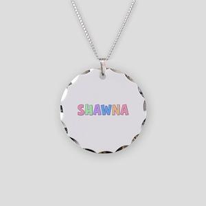 Shawna Rainbow Pastel Necklace Circle Charm