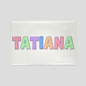 Tatiana Rainbow Pastel Rectangle Magnet