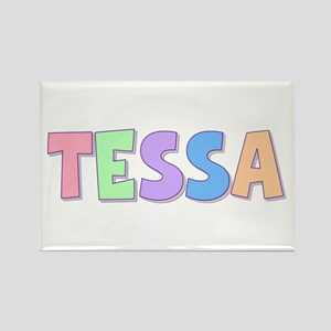 Tessa Rainbow Pastel Rectangle Magnet