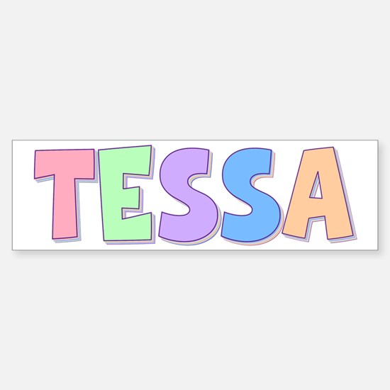 Tessa Rainbow Pastel Bumper Car Car Sticker