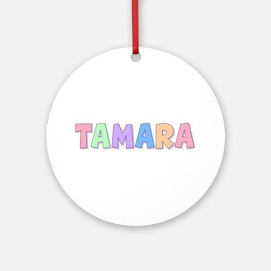 Tamara Rainbow Pastel Round Ornament